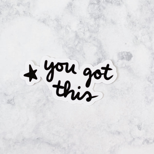 You Got This Lettering Die Cut