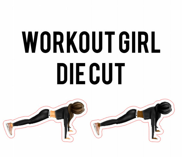 Workout Girl Die Cuts