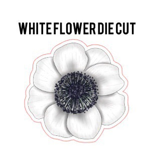 White Flower Die Cut