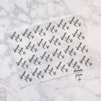 Dream Plan Do Anniversary Script Vellum & Die Cut