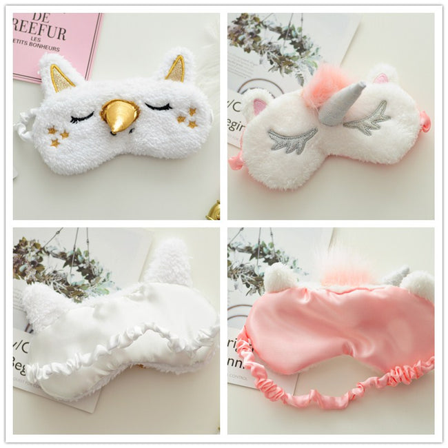 18327ba01f new 18cm Mayitr 1pc Unicorn eye mask Cartoon Sleeping Mask Plush Eye Shade  Cover Blindfold Eyeshade
