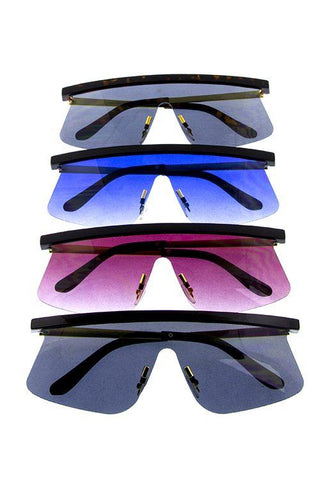 Womens rimless fashion sunglasses