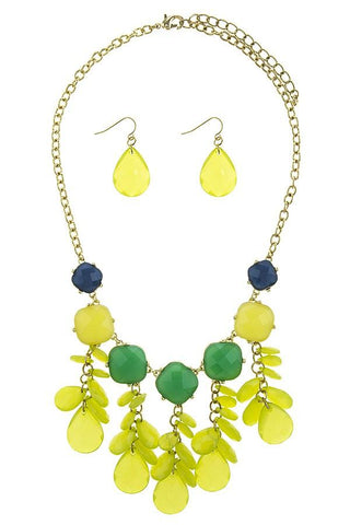Colorful Flower necklace set