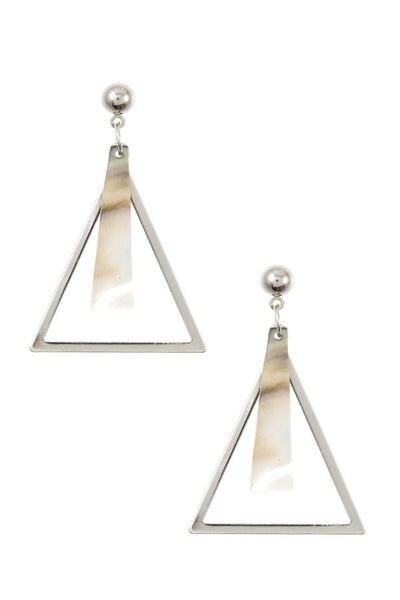 Triangle link earrings