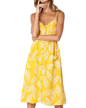 Yellow Button Down Sundress