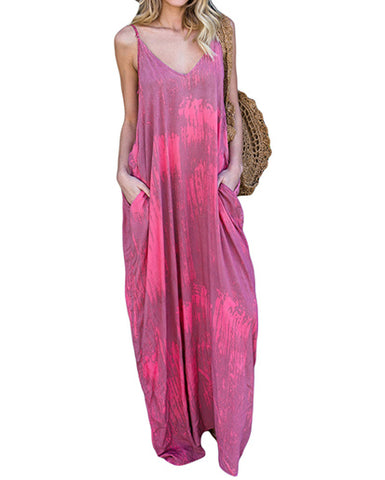 Rosy Tie Dye Maxi Dress