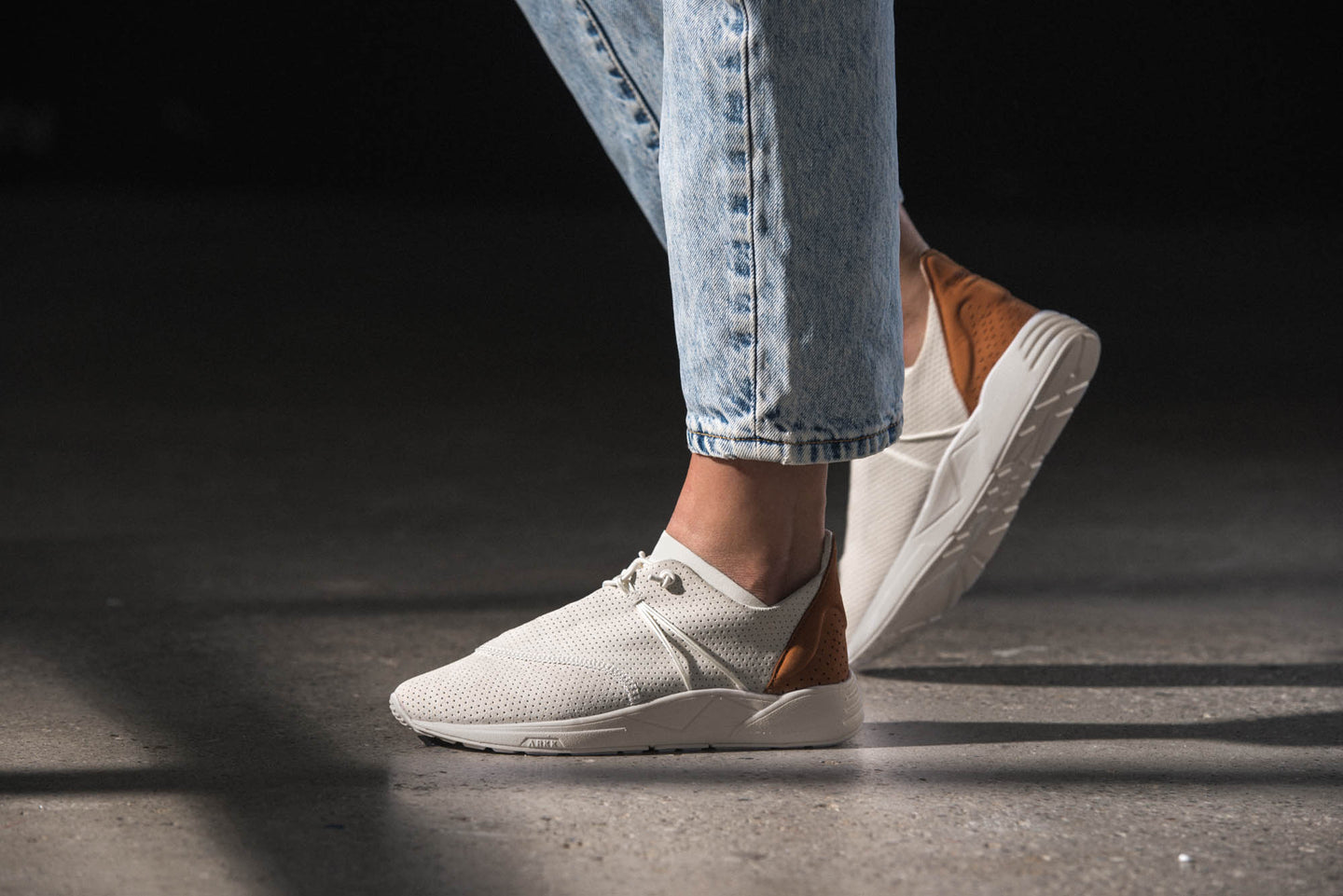 ARKK Copenhagen - Main Line Eaglezero Suede S-E15 Off White Brown - Women Eaglezero
