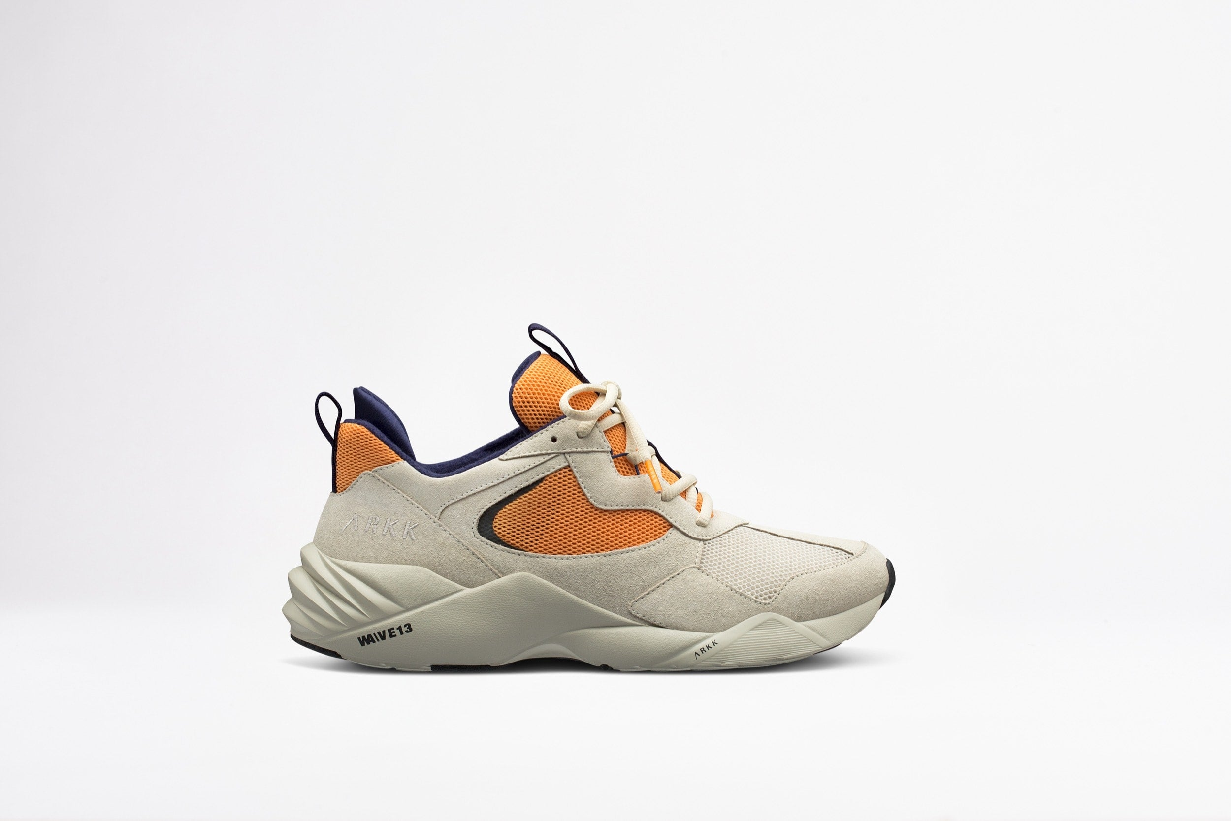 ARKK Copenhagen - Essential Line Kanetyk Suede W13 Off White Blazing Orange - Men Kanetyk Blazing Orange
