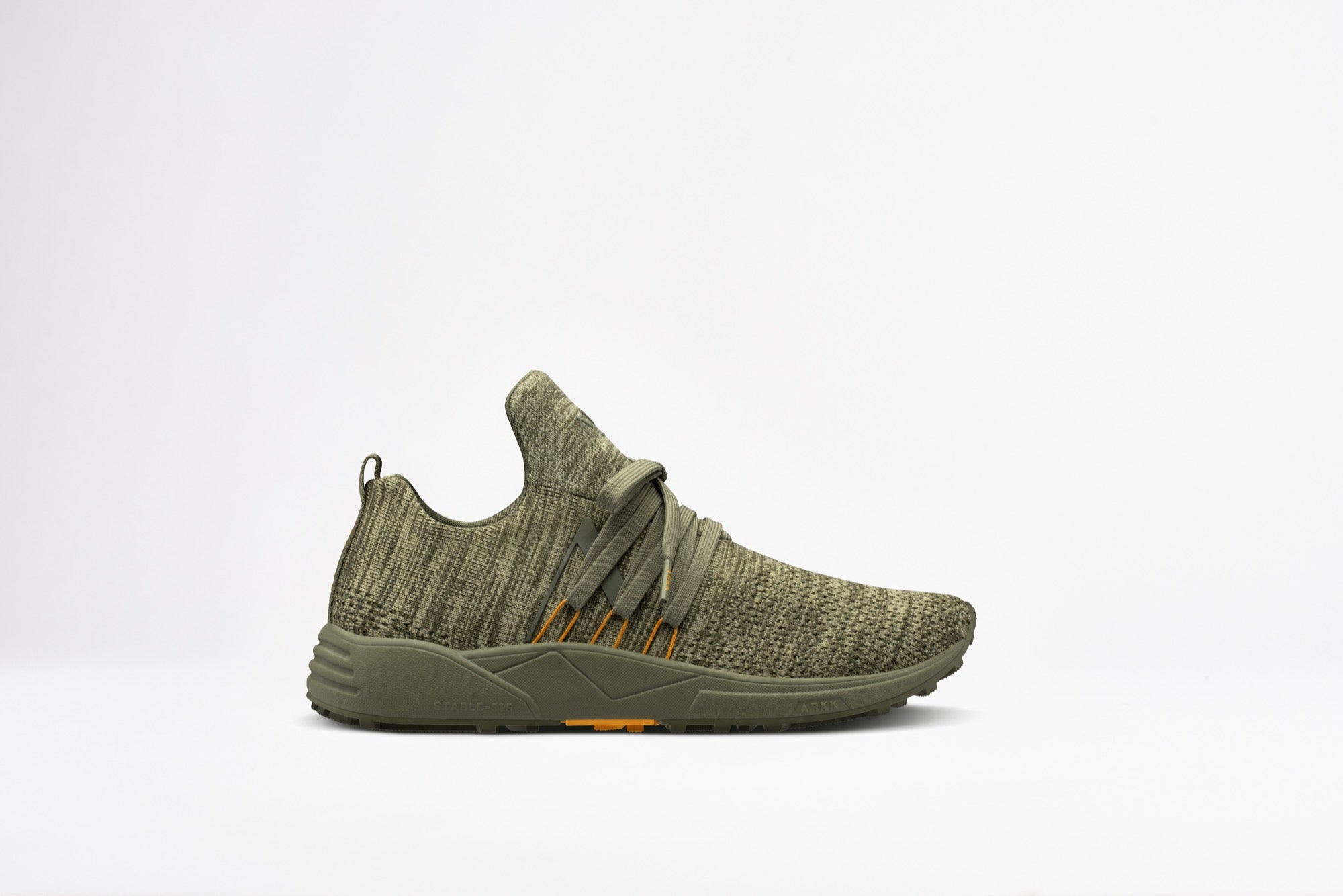 ARKK Copenhagen - Main Line Raven FG S-E15 Vibram® Disrupted Dark Olive Burnt Orange-Women Raven Dark Olive