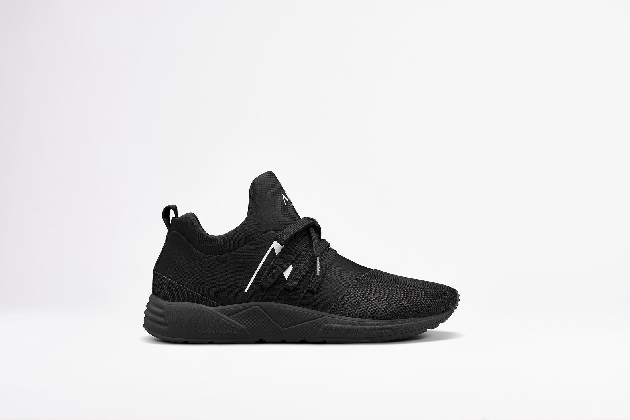 ARKK Copenhagen - Iconic Line Raven Mesh S-E15 All Black White-MEN Raven Black