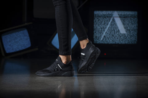 ARKK Copenhagen - Iconic Line Raven Mesh S-E15 All Black White-WOMEN Raven Black