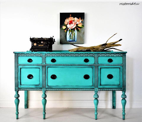 Restored4U furniture pop of color by Ildiko Horvath
