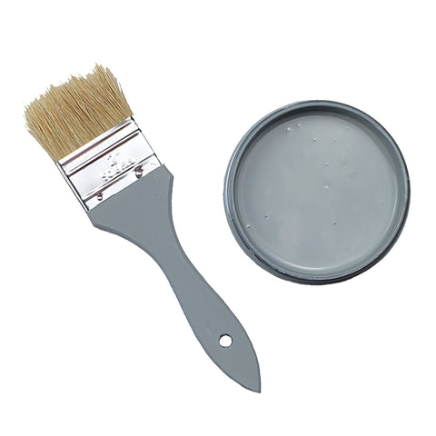 Grey 51 Chalk Infused Paint 8 Ounce Jar
