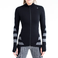 Seamless womens sport zip jacket