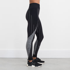 Seamless Game On luxe Leggings  – Black / Grey Marl