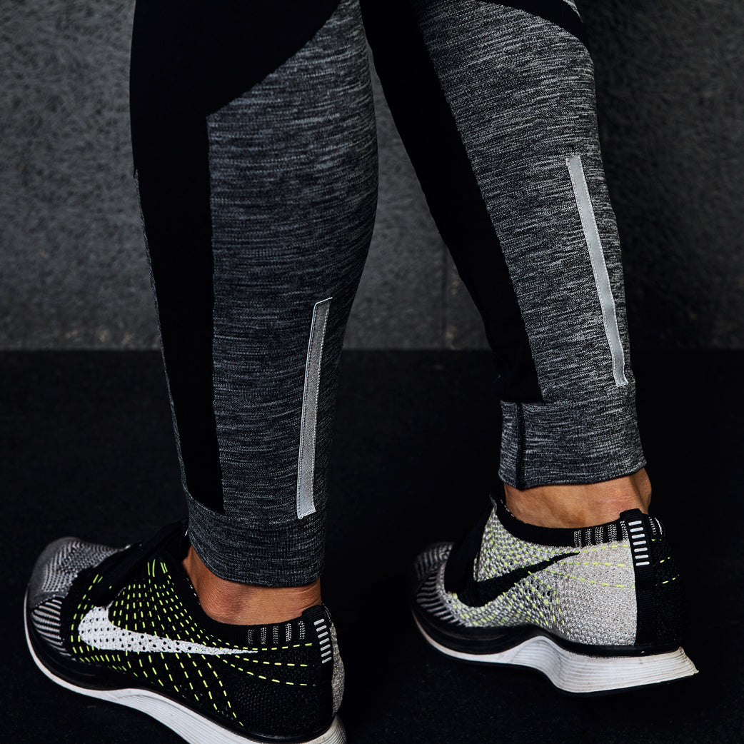 seamless leggings grey marl