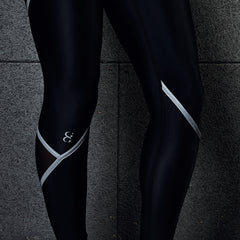 High Performance Sculpting Supercharge Leggings – Black/Reflective