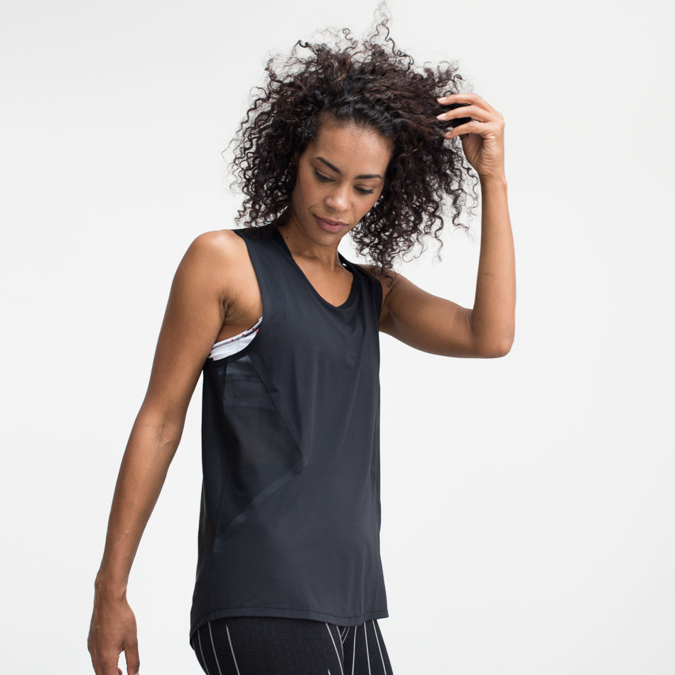 Technical No Sweat Vest – Black - Stretch Mesh Back