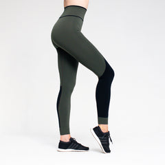 Winner High Waisted seamless leggings - Khaki Green/Black