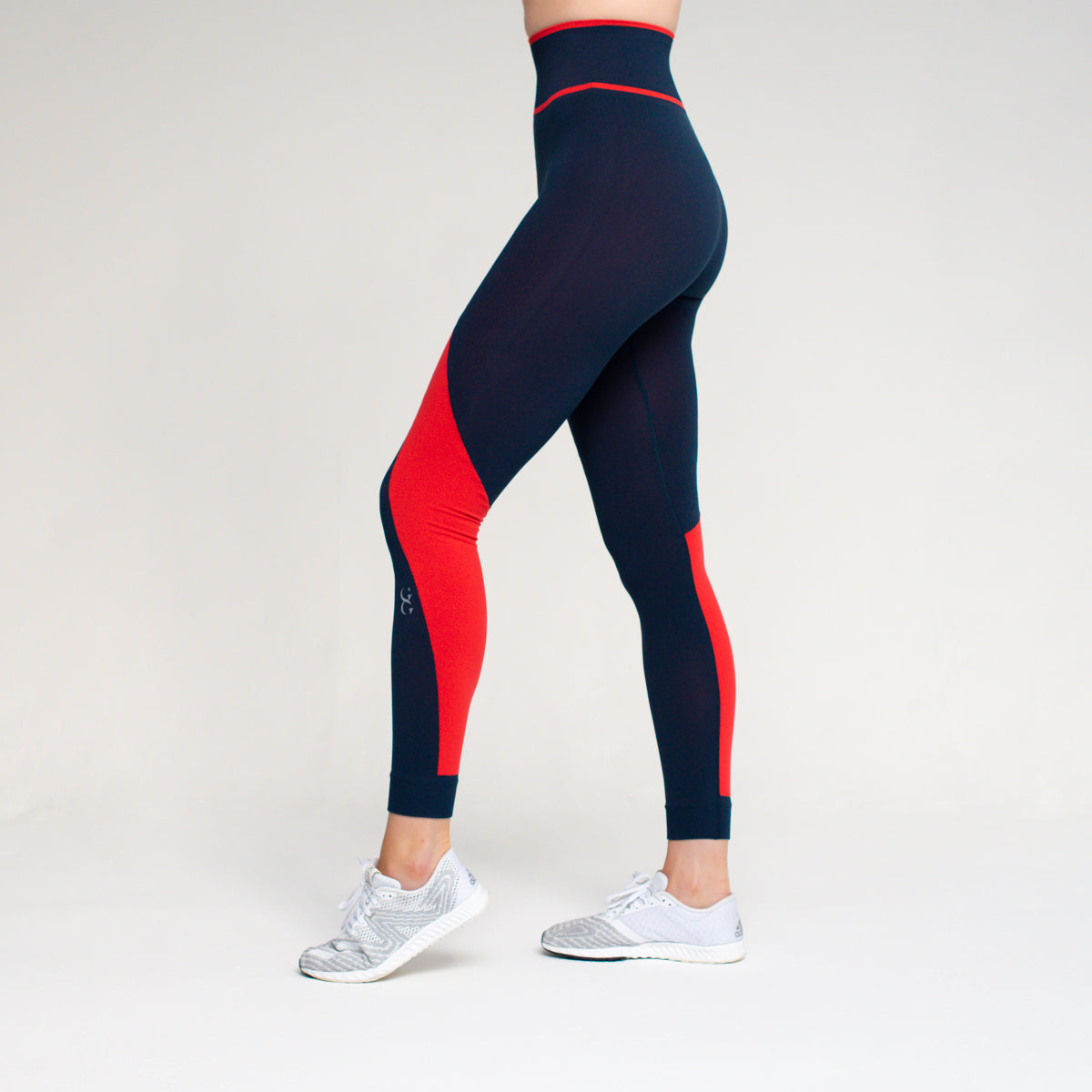 Winner High Waisted seamless leggings - Navy / Red