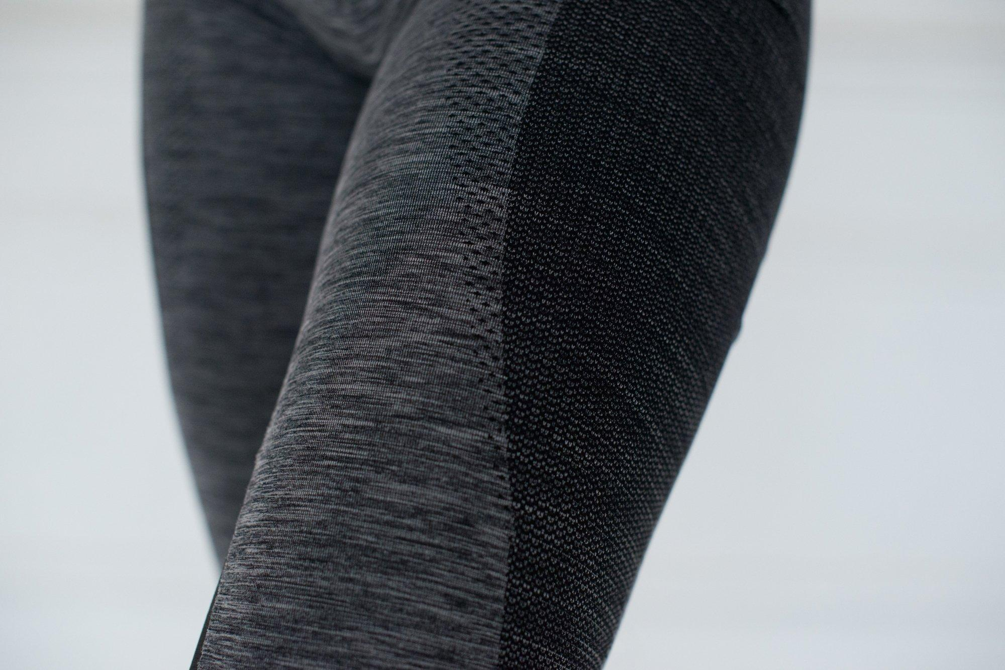Seamless Full Length Sensation Leggings – Grey Marl / Black