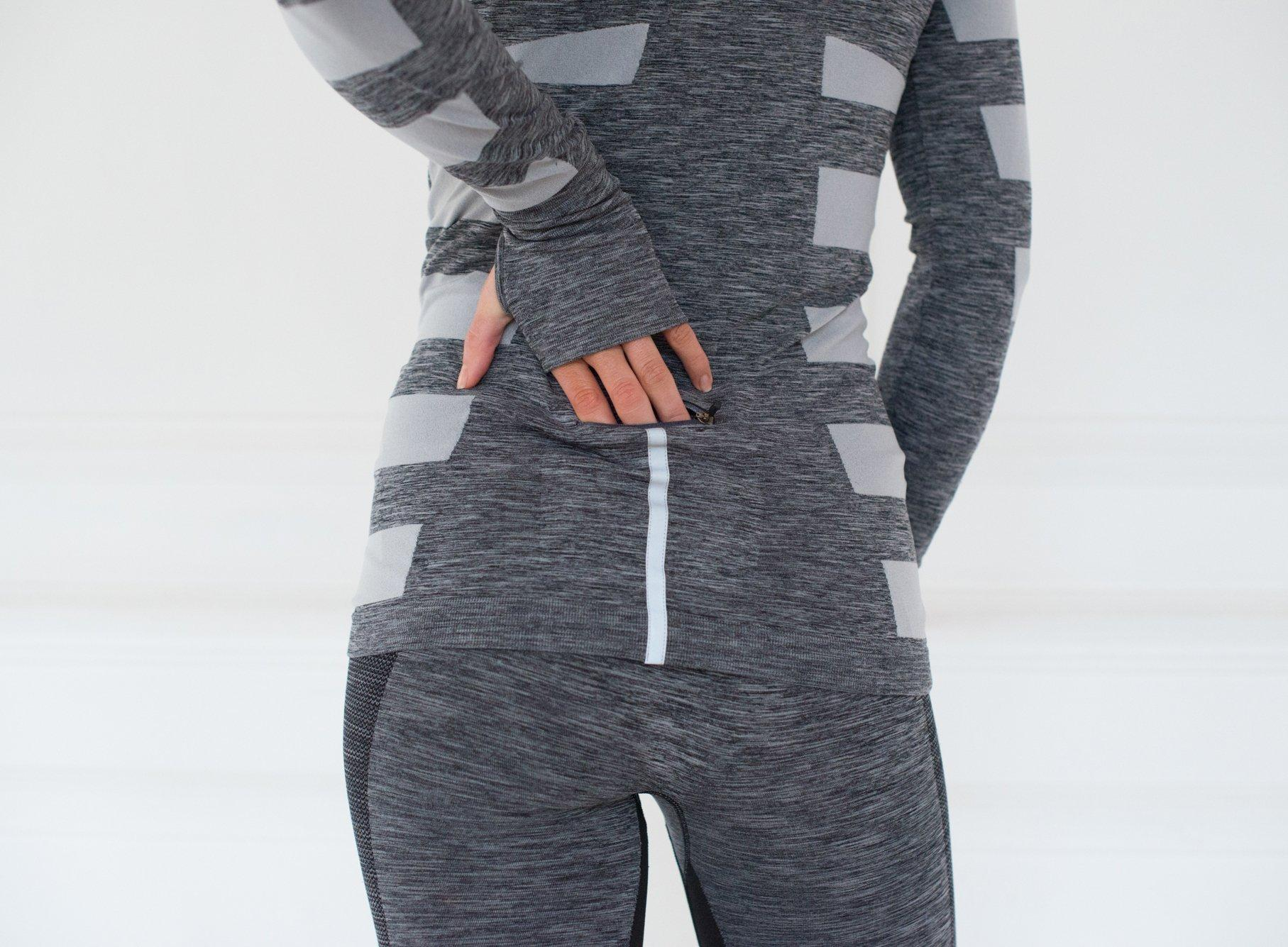 Seamless High Performance Warrior Zip Thru– Grey Marl