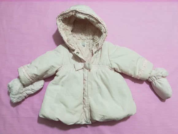 Absorba - Coat & Mittens - 6-9 Months - Preloved & Perfect
