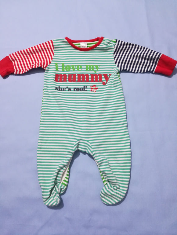 Next - Sleepsuit - 0-3 Months - Preloved & Perfect
