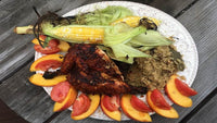 Cedar Plank BBQ Chicken with Porcini Quinoa