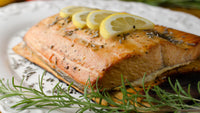 Cedar Plank Salmon with Moroccan Couscous