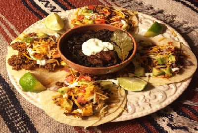 Rio Grande Taco with Ancho Black Beans