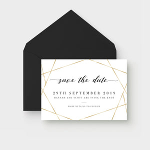 Modern Personalised Save the Date Cards