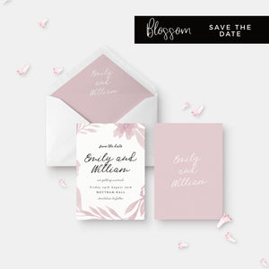 Blossom Personalised Save the Date