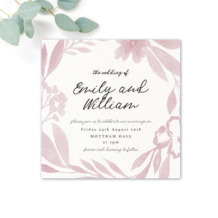 Blossom Personalised Wedding Invitations