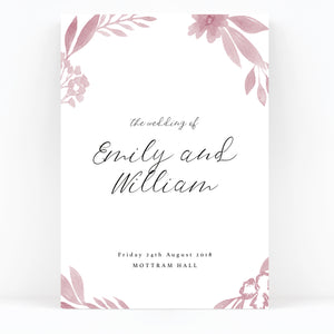 Blossom Blush Pink Wedding Welcome Sign
