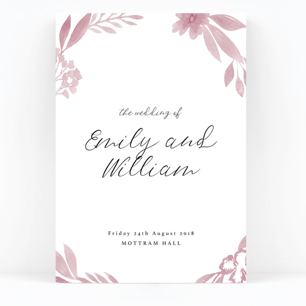 Blossom Wedding Welcome Sign
