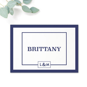 Brittany navy nautical wedding table names