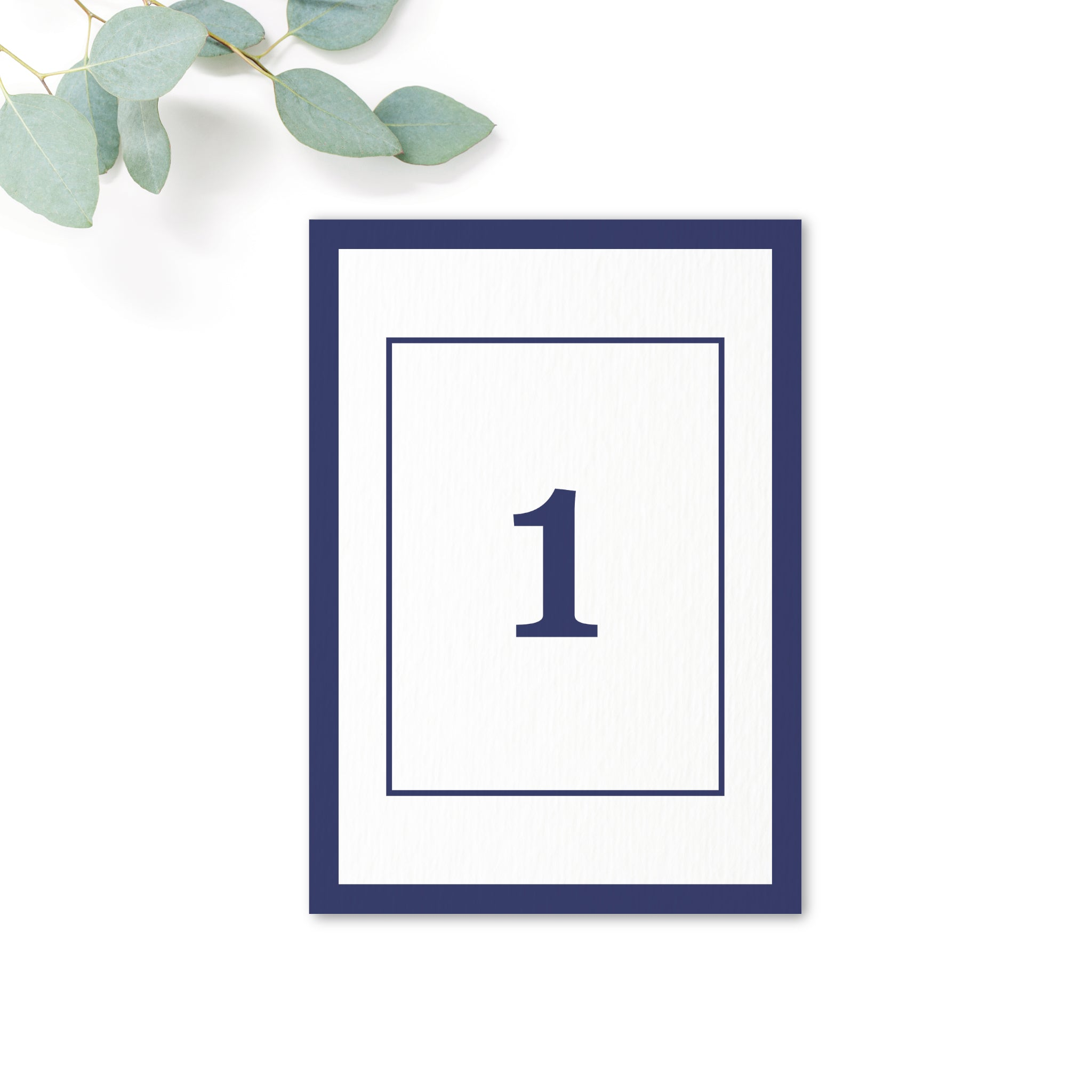 Brittany navy nautical wedding table numbers