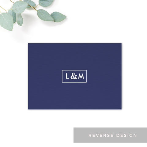 Brittany Navy Nautical Wedding RSVP Monogram