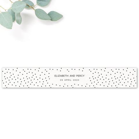 Carter Modern Monochrome Polka Dot Wedding Belly Band Flat