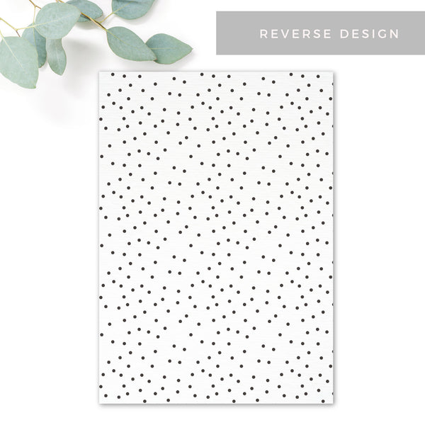 Carter Modern Polka Dot Reverse Wedding Invitation
