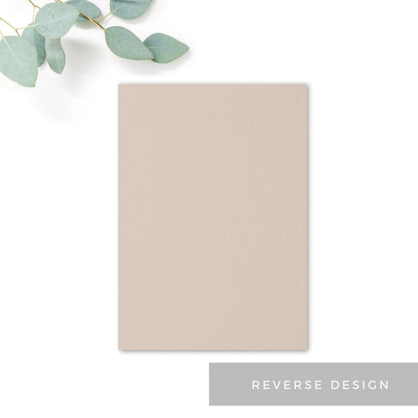 Carter Modern Nude Neutral Can you make it rsvp card Reverse design