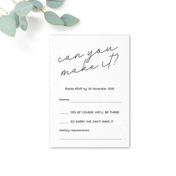 Carter Modern Nude Neutral Can you make it rsvp card