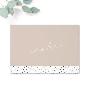 Carter Modern Nude Neutral Polka Dot Wedding Table Names