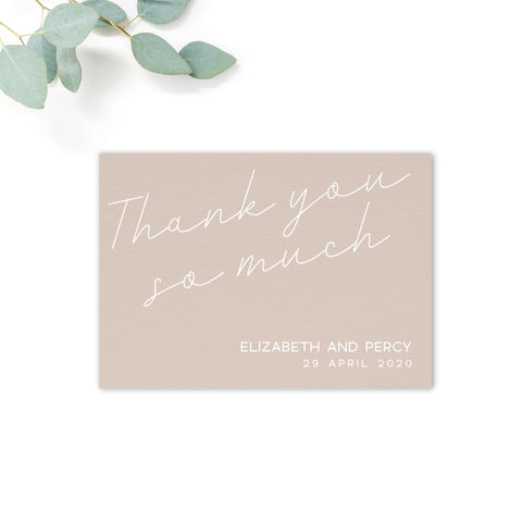 Carter Personalised Wedding Thank You Card