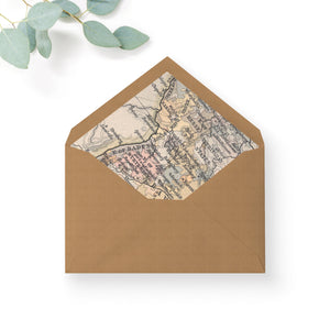 Destination Passport Map Print Envelope Liners