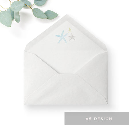 Estrella Pale Blue Beach Wedding Invitation Suite