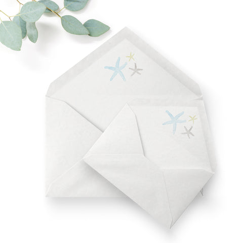 Estrella Pale Blue Beach Wedding Envelope Liner