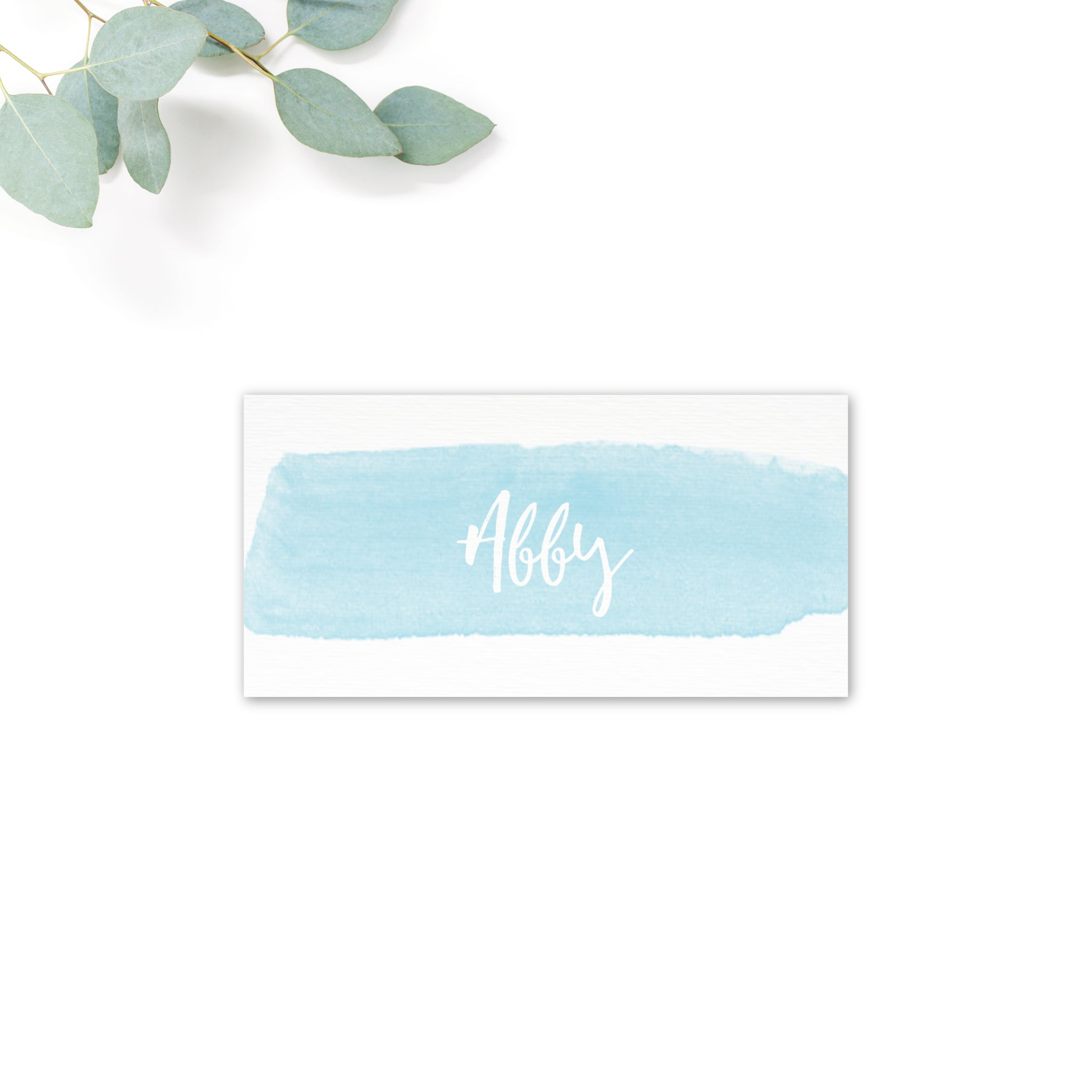Estrella Beach Blue Wedding Place Card