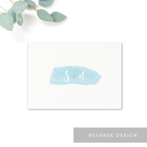 Estrella Pale Blue Beach Wedding RSVP